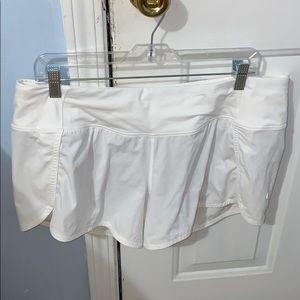 """White LuluLemon Speed Up Shorts 2.5"""" new w/o tags."""
